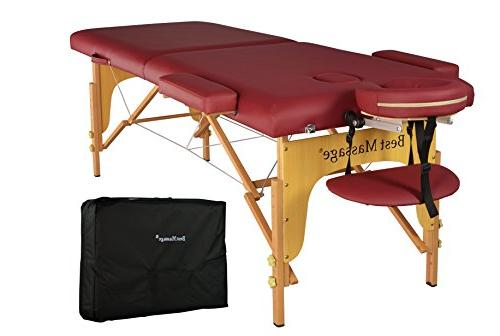 two fold burgundy portable massage