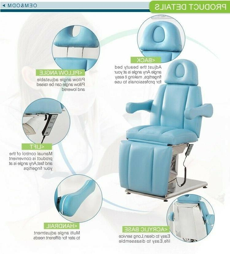 USA- All Electric 3 Motors facial bed chair table massage El
