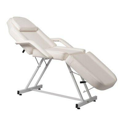 white massage facial bed adjustable table chair