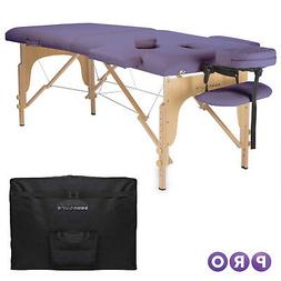lavender portable massage table with carrying case