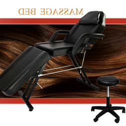 Massage Bed Adjustable Facial Table Chair Beauty Spa Salon T