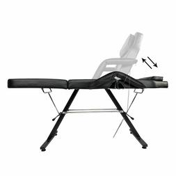 Massage Bed Tattoo Chair With Stool PVC Salon SPA Body Build