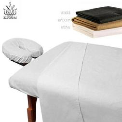 MASSAGE TABLE 100% MICROFIBER FITTED SHEET SET - 3pc SHEETS