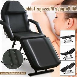 Beauty Salon Chair Massage Table Folding Therapy SPA Bed Fac
