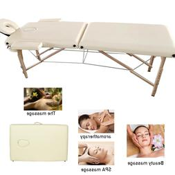 Massage Table Bed Spa Bed Adjustable Portable Foldable Salon