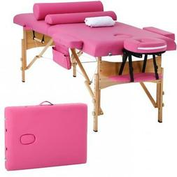 Massage Table Massage Bed Spa Bed Height Adjustable 2 Fold P