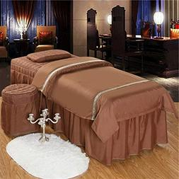 Massage Table Sheet Sets,Beauty Bed Cover Four-Piece Set Sof