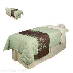 Massage Table Skirt Natural Linen Spa Fits Any Size Portable