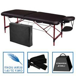 "Master 28"" Zephyr Portable Folding Massage Table Package- Bl"