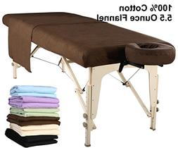 Master Massage Table Flannel Sheet Set 3 in 1 Table Cover, F