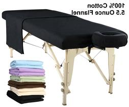 Master Massage Universal Massage Table Flannel Sheet Set 3in