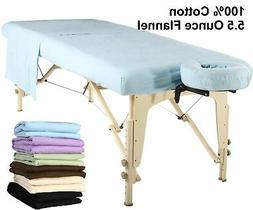 Master Massage Universal Table Flannel Sheet Set 3 in 1 Cove