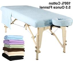 Master Massage  Universal Massage Table Flannel Sheet Set 3