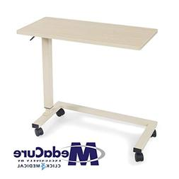Medical Height Adjustable Overbed Table - Flame Resistant an