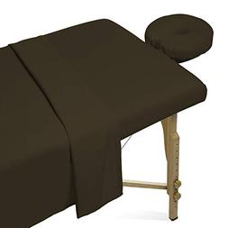 Saloniture 3-Piece Microfiber Massage Table Sheet Set - Prem