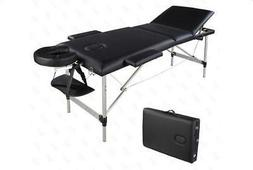 "NEW 84"" 3Fold Portable Aluminum Massage Table Facial SPA Bed"