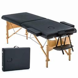 new black 73 portable massage table w