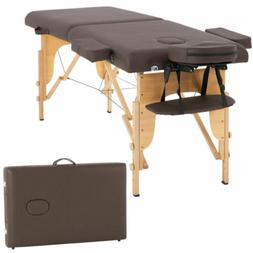 "New Massage Table Spa Bed 73"" Long Portable 2 Folding W/ Car"
