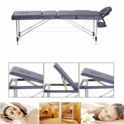 "New Massage Table Spa Bed 84"" Long Portable 3 Folding W/ Car"