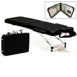 portable 2 fold massage table salon spa