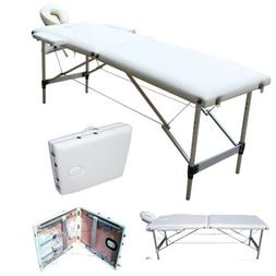 Portable 2 Fold w/Facial SPA Beauty Bed Aluminum Massage Tab