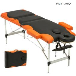 Portable 3 Fold Massage Table Aluminum Facial SPA /Tattoo Be