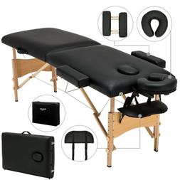 "Portable 84""L Fold Massage Table Facial SPA Bed Tattoo W/Fre"
