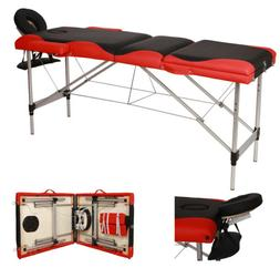 "3 Fold Aluminum 84""Portable Massage Table Comfort Facial SPA"