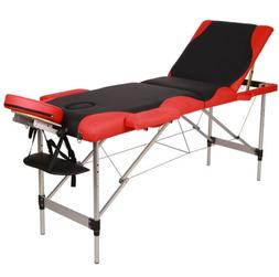 "Portable Folding 3 Fold 84""Portable Aluminum Massage Table S"