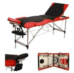 Portable Folding Massage Table Aluminum 3 Pad Facial SPA Bed