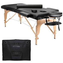Saloniture Portable Folding Massage Table with Aluminum Head
