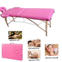 Portable Massage Table 2-Fold Bed Spa Bed Foldable Salon Bed
