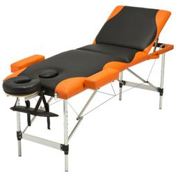 Portable Massage Table 3 Fold Facial SPA Bed w/Free Carry Ca