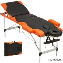 3 Fold Portable Massage Table Facial SPA Bed Tattoo Free Car