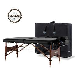 DR.LOMILOMI Large Portable Massage Table 301 Black Spa Bed W