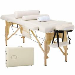 Pro Massage Table Bed, Adjustable 3 Sections Height Tilt, 50