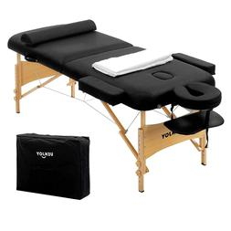 Professional Deluxe Portable Folding Massage Bed Chair Table