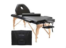 Saloniture Professional Portable Folding Massage Table w/ Ca