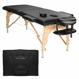Saloniture Professional Portable Folding Massage Table With