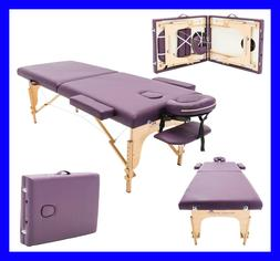 MASSAGE IMPERIAL® PURPLE CHARBURY PORTABLE MASSAGE TABLE CO
