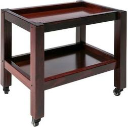 Rolling Massage Table Cart Equipment Wood Walnut Versatile D