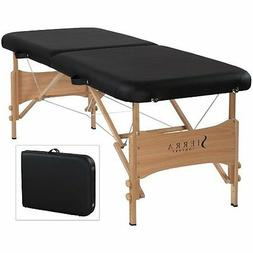 Sierra Comfort Basic Portable Massage Table, Black