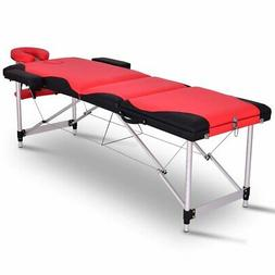 "Giantex Spa Beds Massage Tables 84""L 3 Section Portable Salo"