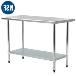 """30""""x60"""" Stainless Steel Kitchen Work Table Commercial Kitche"""