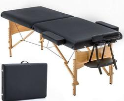 Massage Table Portable Folding Professional Reiki Hardwood P