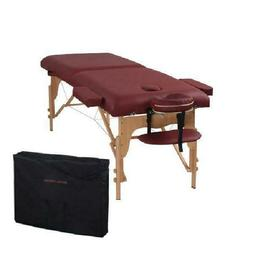 The Best Massage Table Two Fold Burgundy Portable Massage Ta