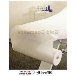 WHITE DISPOSABLE Non-Woven BED COVER ROLL Perforated Massage